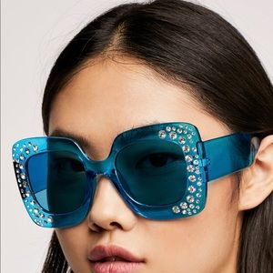 Free People embellished sunglasses